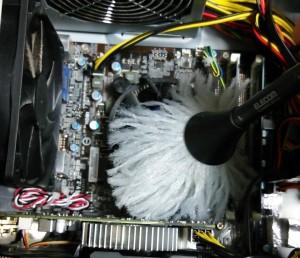 パソコン掃除、CPUグリス塗り直し